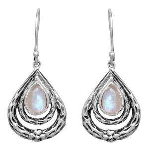 Jewelry - Sterling Silver Moonstone Earrings NWT
